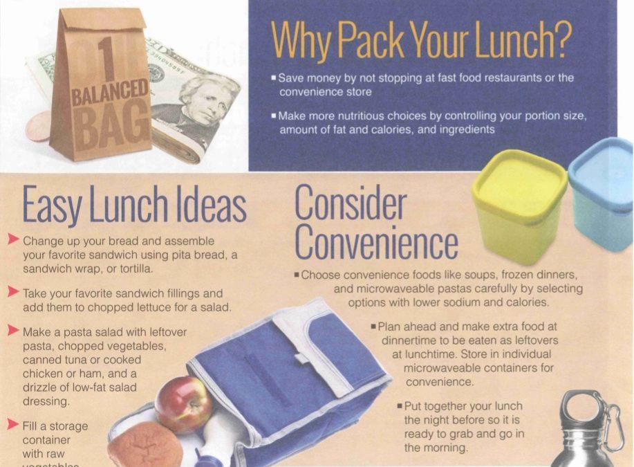 Build A BALANCED Bag lunch