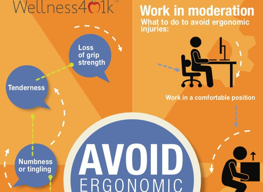 Ways to help avoid Ergonomic Injuries